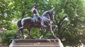 paul szanuje kwadratową statuę Boston Zdjęcie Stock