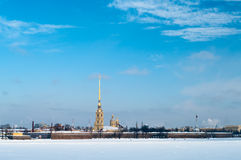 Paul-und Peter-Festung in St Petersburg Stockfotografie