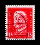 Paul von Hindenburg 1847-1934, présidents de serie de l'Allemagne, vers 1928 Image libre de droits