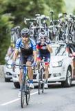 Paul Voss på Sänka du Tourmalet - Tour de France 2014 Arkivbilder