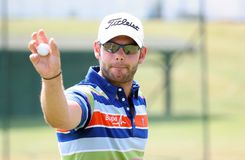 Paul Waring (eng) bij het golf het Frans opent 2009 Stock Afbeeldingen