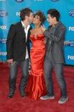 Paula Abdul, David Archuleta, David Cook Zdjęcie Stock