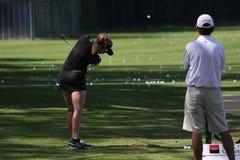 Paula Creamer at golf Evian Masters 2012 Royalty Free Stock Image