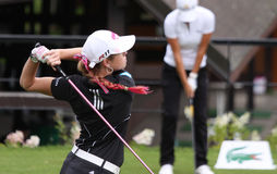 Paula Creamer (USA) Evian Masters 2011 Stock Photography