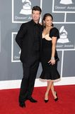 Paula Patton, Robin Thicke. Robin Thicke and Paula Patton at the 51st Annual GRAMMY Awards. Staples Center, Los Angeles, CA. 02-08-09 Royalty Free Stock Photo