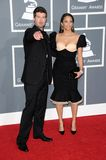 Paula Patton, Robin Thicke. Robin Thicke and Paula Patton at the 51st Annual GRAMMY Awards. Staples Center, Los Angeles, CA. 02-08-09 Stock Images