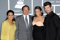 Paula Patton, Robin Thicke, Smokey Robinson Royalty Free Stock Photo