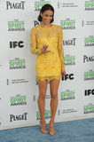 Paula Patton. SANTA MONICA, CA - MARCH 1, 2014: Paula Patton at the 2014 Film Independent Spirit Awards on the beach in Santa Monica, CA Stock Image
