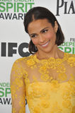 Paula Patton. SANTA MONICA, CA - MARCH 1, 2014: Paula Patton at the 2014 Film Independent Spirit Awards on the beach in Santa Monica, CA Stock Photo