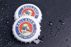 Paulaner啤酒瓶盖  免版税图库摄影