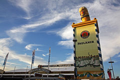 Paulaner Biergarten at Oktoberfest Royalty Free Stock Photography