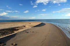 Paulatuk, Northwest Territories, Canada. The sand spit into the Arctic Ocean in Paulatuk, Northwest Territories, Canada stock photo