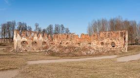 Paulavos-Republik in Litauen Alte Ziegelstein-Ruinen Besichtigungsgegenstand in Litauen Stockfotos