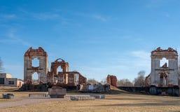 Paulavos-Republik in Litauen Alte Ziegelstein-Ruinen Besichtigungsgegenstand in Litauen Lizenzfreie Stockbilder
