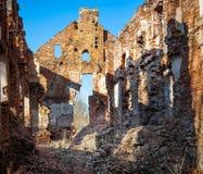 Paulavos-Republik in Litauen Alte Ziegelstein-Ruinen Besichtigungsgegenstand in Litauen Stockbilder