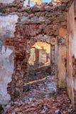 Paulavos-Republik in Litauen Alte Ziegelstein-Ruinen Besichtigungsgegenstand in Litauen Stockbild