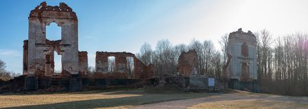 Paulavos-Republik in Litauen Alte Ziegelstein-Ruinen Besichtigungsgegenstand in Litauen Stockfotografie