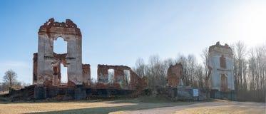 Paulavos-Republik in Litauen Alte Ziegelstein-Ruinen Besichtigungsgegenstand in Litauen Stockfoto
