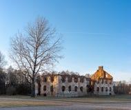 Paulavos-Republik in Litauen Alte Ziegelstein-Ruinen Besichtigungsgegenstand in Litauen Lizenzfreies Stockbild