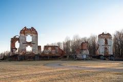 Paulavos-Republik in Litauen Alte Ziegelstein-Ruinen Besichtigungsgegenstand in Litauen Lizenzfreie Stockfotos