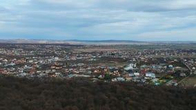 Paulesti,普拉霍瓦县,罗马尼亚,空中英尺长度 股票视频