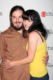 Pauley Perrette. & husband arriving at the CBS Fall Preveiw Party My House  Club Los Angeles, CA September 16, 2009 Stock Images
