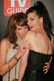 Pauley Perrette,Lauren Holly. Lauren Holly and Pauley Perrette at the TV Guide and Inside TV Emmy Awards After Party. Hollywood Roosevelt Hotel, Hollywood, CA 09 Royalty Free Stock Photos