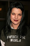 Pauley Perrette. At the party celebrating the winner of Current TV's 'Seeds of Tolerance'. Arclight Hollywood, Hollywood, CA. 12-14-06 Royalty Free Stock Images