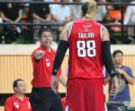 Pauliasi Taulava #88 deltar i en ASEAN-basketliga  Arkivbilder