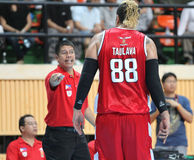 Pauliasi Taulava #88 neemt aan een ASEAN-Basketballiga deel  Stock Afbeeldingen