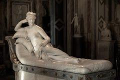 Pauline Bonaparte από το Antonio Canova Στοκ Φωτογραφίες