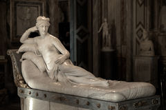 Pauline Bonaparte door Antonio Canova Stock Foto's