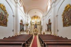 Pauline Church i Kezmarok Paulinsky kostol V Kezmarku Royaltyfria Bilder