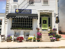 Pauline`s Palm and Tarot Card Reading. Located in Newport, RI stock photography