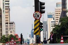 Paulista aleja - Główna atrakcja turystyczna w Sao Paulo, Brazylia obraz stock