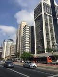 Paulista ave Sao Paulo Arkivfoton