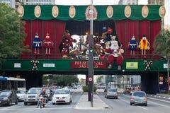 Paulista Avenue Christmas Decoration Brazil Royalty Free Stock Photos