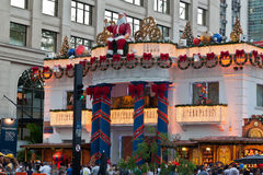 Paulista Avenue Christmas Decoration Brazil Stock Photo