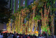 Paulista Avenue Christmas Decoration Brazil Stock Image