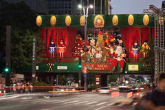 Paulista Avenue Christmas Decoration Brazil Stock Photography