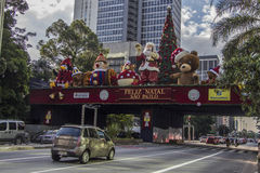 Paulista Avenue - Christmas decorations Royalty Free Stock Photo