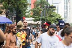 Paulista Avenue - The Main Tourist Attraction in Sao Paulo, Brazil. Paulista Avenue - The Main Tourist Attraction in São Paulo, Brazil stock photography