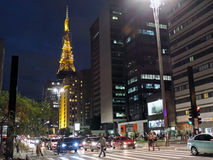Paulista Avenue Royalty Free Stock Photography