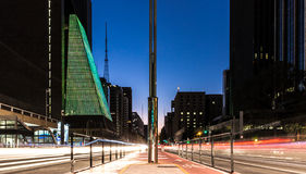 Paulista Avenue at night in Sao Paulo, Brazil Royalty Free Stock Photography