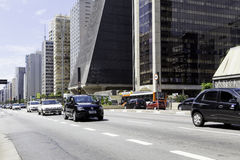 Paulista Avenue on November in Sao Paulo, Brazil. Stock Photography