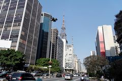 Paulista Avenue Sao Paulo Royalty Free Stock Photo