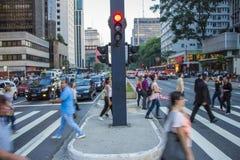 Paulista Avenue - São Paulo - Brazil Stock Photography