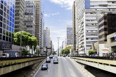 Paulista Avenue in Sao Paulo, Brazil Royalty Free Stock Photos