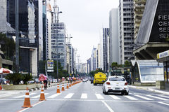 Paulista Avenue in Sao Paulo, Brazil Stock Photography