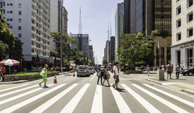 Paulista Avenue in Sao Paulo, Brazil Royalty Free Stock Photo